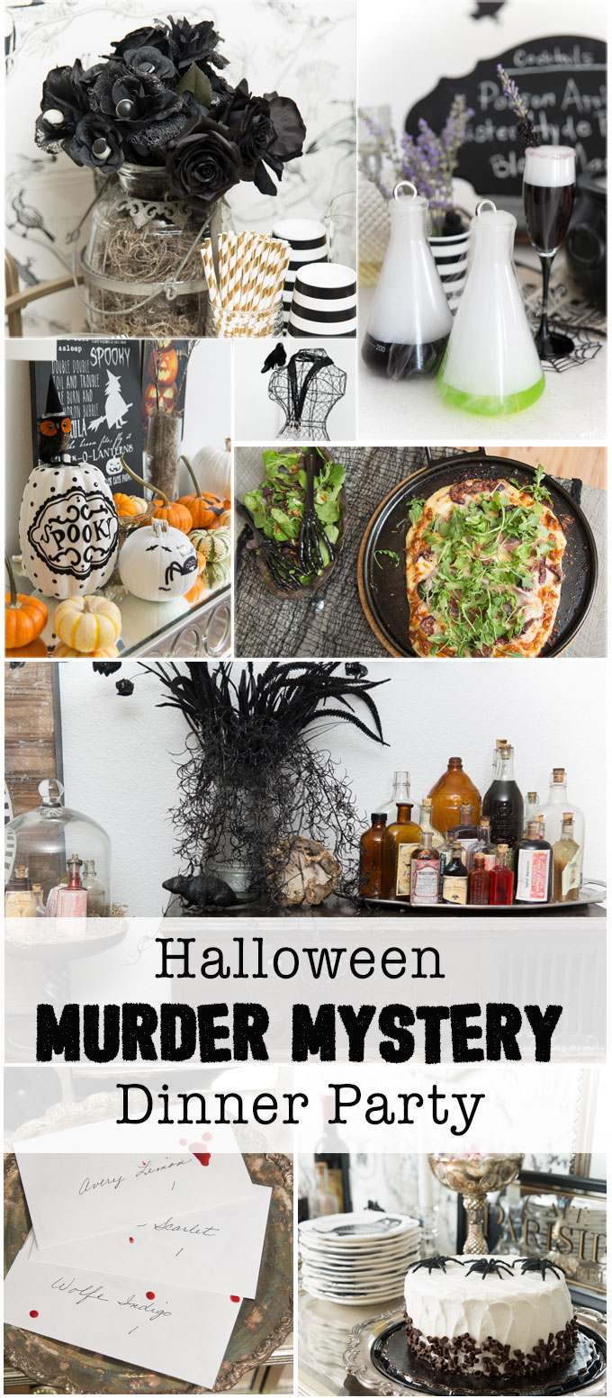 Throw a fantastic Halloween Murder Mystery Dinner party - from decorations and food to spooky cocktails - so many ideas here!