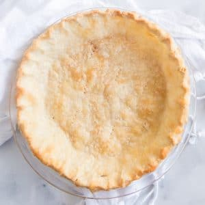 baked oil pie crust set on white towel