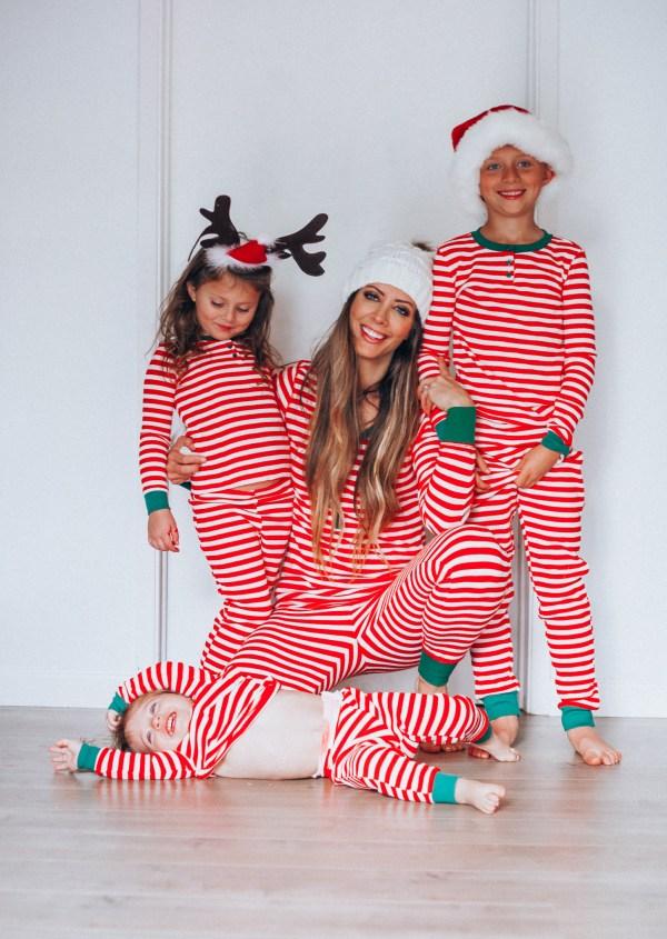 Christmas Pajamas Family Girl In Yellow Dress
