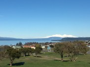 Driving into Taupo