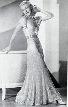 Ginger Rogers evening dress
