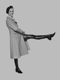 Vicky Hodge in thigh high boots, 1968