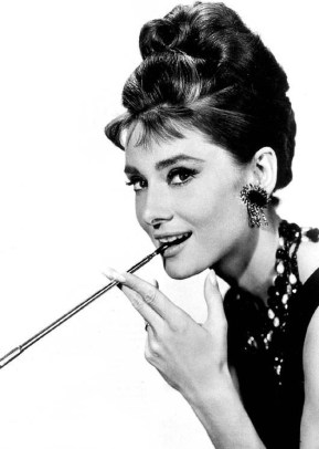 Audrey Hepburn in clip-on earrings