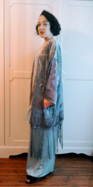 Fringed devoured kimono