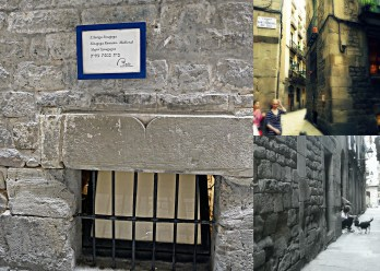 """El Call, the former Jewish """"ghetto"""" in Barcelona and also location of the oldest synagogue in Europe."""