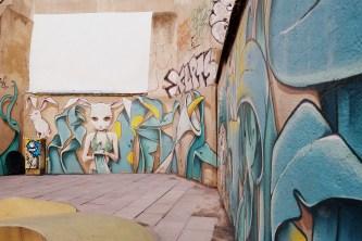 "Arte de la calle or ""street art"" found in the Gothic district of Barcelona"