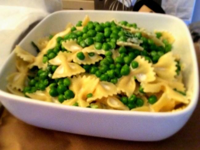 Creamy Pasta with Peas, recipe from Martha Stewart
