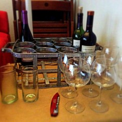 The wine station before the guests arrived
