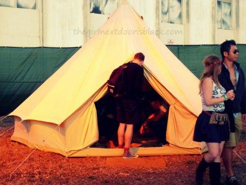 Tent at Treasure Island Music Festival 2014 | The Girl Next Door is Black