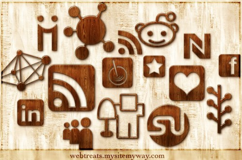 Wood Social Media Icons   The Girl Next Door is Black