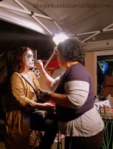 Getting Makeup Done for Dia de Los Muertos | The Girl Next Door is Black