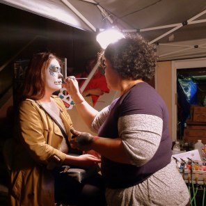 Getting Makeup Done for Dia de Los Muertos | The Girl Next Door is Black