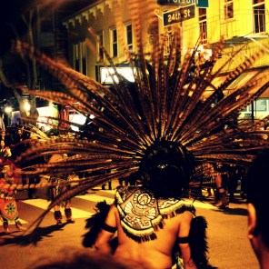 Aztec Dancers at Dia de los Muertos San Francisco 2014 | The Girl Next Door