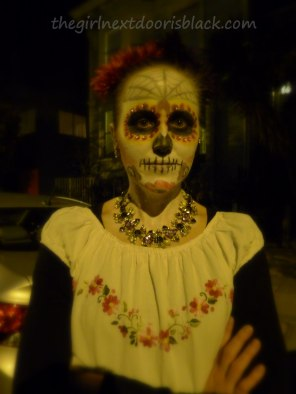 Sugar Skull Makeup Day of the Dead | The Girl Next Door is Black