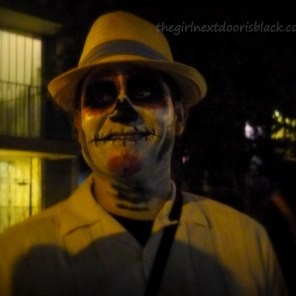 Man in Sugar Skull Makeup Day of the Dead | The Girl Next Door is Black