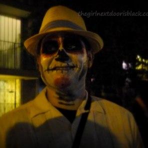 Man in Sugar Skull Makeup Day of the Dead | The Girl Next Door is Black