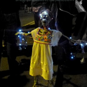 Metal sculpture at Dia de los Muertos San Francisco 2014 | The Girl Next Door is Black