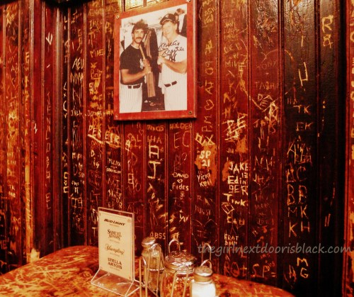 Booth at John's on Bleecker Street | The Girl Next Door is Black