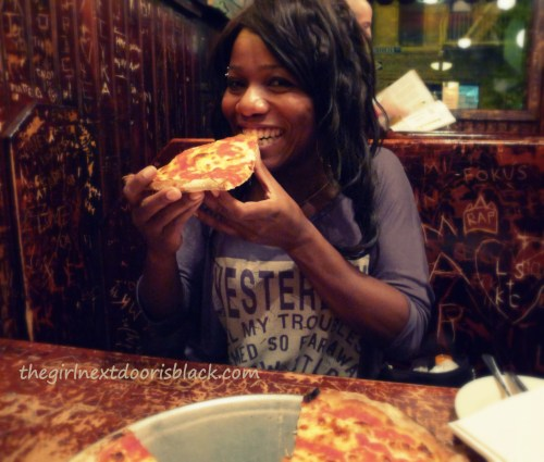 Eating at John's on Bleecker Street, New York | The Girl Next Door is Black