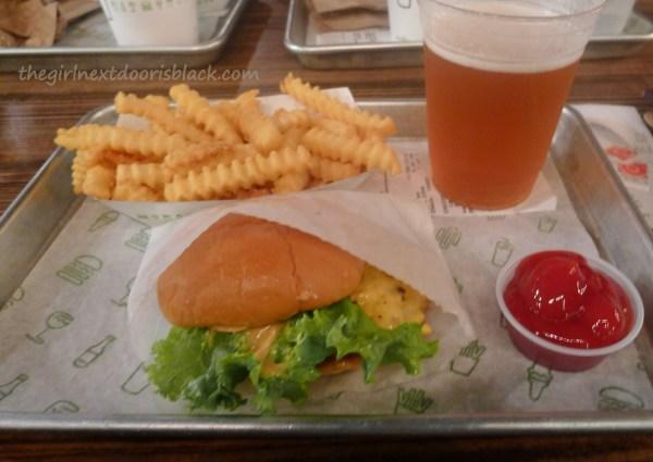 Shake Shack Burger Fries | The Girl Next Door is Black