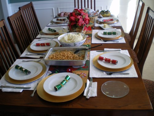 Christmas Dinner Table Set, Photo cr: Celeste Lindell, flickr.com | The Girl Next Door is Black