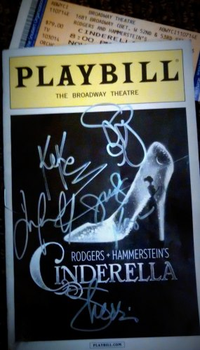 Cinderella Broadway Playbill Autographs | The Girl Next Door is Black