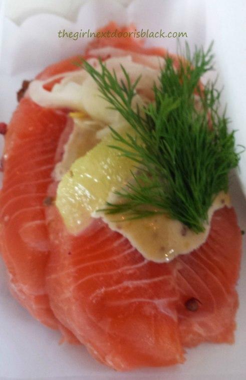 Smørrebrød with salmon Torvehollerne | The Girl Next Door is Black