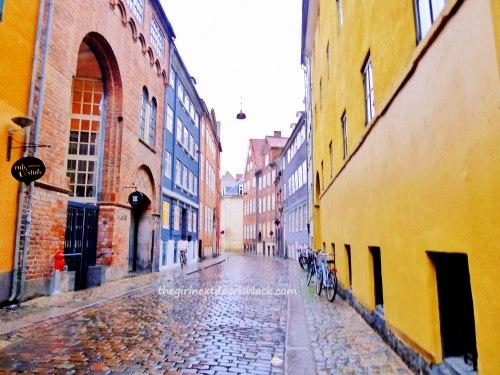 Colorful street in Copenhagen | The Girl Next Door is Black
