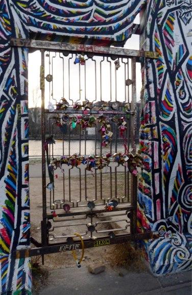 Love padlocks Berlin Wall