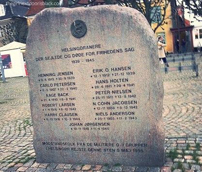 Helsingør war memorial Denmark