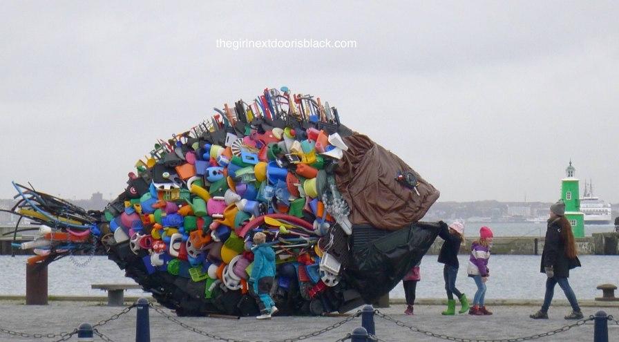 Fish installation Helsingør Denmark