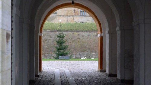 Kronborg Castle Tree arches Denmark