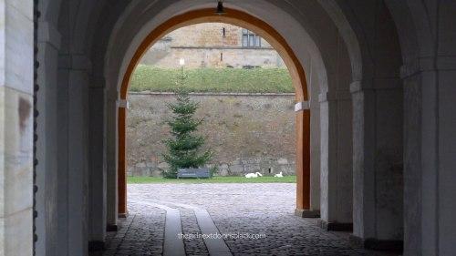 Kronborg Castle Tree arches Denmark