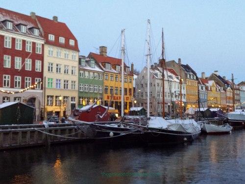 Nyhavn in snow Copenhagen