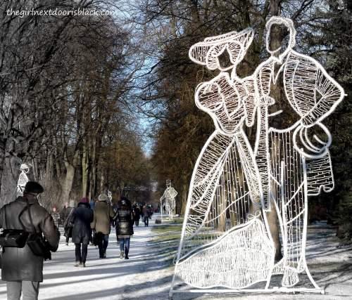 Łazienki Park Lights Couple | The Girl Next Door is Black