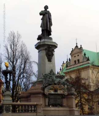 Adam Mickiewicz Monument Warsaw | The Girl Next Door is Black