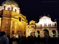 Church of Saint Francis at Night Prague | The Girl Next Door is Black