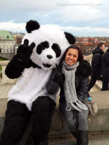 Giant Panda in Warsaw Old Town | The Girl Next Door is Black