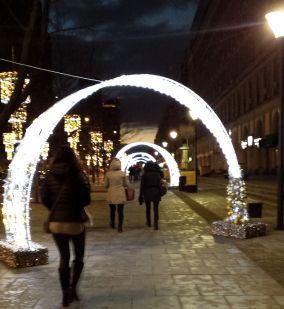 Light Arches Old Town Warsaw   The Girl Next Door is Black