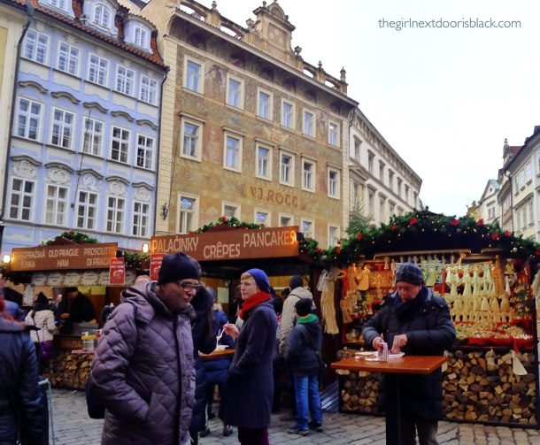 Food vendors Old Town Square Prague | The Girl Next Door is Black