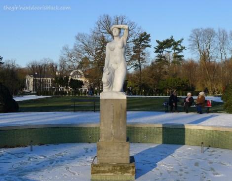Statue of Nude Woman Lazienski Park Warsaw   The Girl Next Door is Black