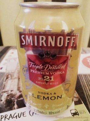 Smirnoff Vodka Lemon Can | The Girl Next Door is Black