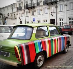Striped Colorful Car Warsaw Old Town   The Girl Next Door is Black