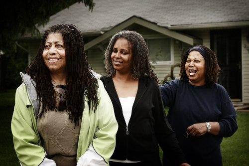 Black Sisters with 'locks by Brandon King, flickr.com   The Girl Next Door is Black