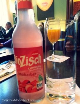Organic rhubarb lemonade Cafe im Literaturhaus