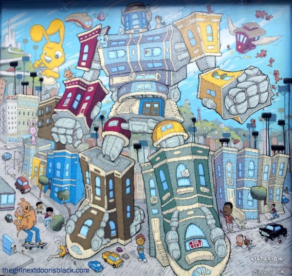 Robots / Tech In the Mission Gentrification Mural, San Francisco, CA