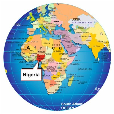 """Nigeria on map of the world from """"My Blackness is Enough"""" on The Girl Next Door is Black"""