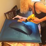 The Girl On A Bike Motorcycle DIY Vinyl Wrap Fender 2 e1501182284680