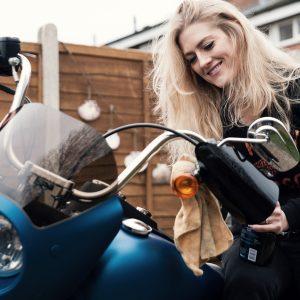 Vanessa Ruck and her Harley-Davidson