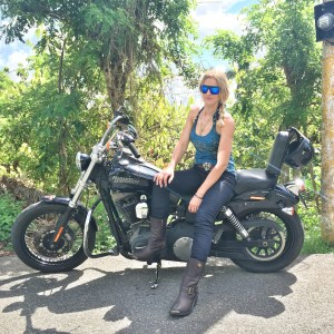 The girl on a bike dominican republic dominican riders harley davidson 2